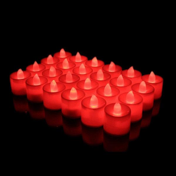 LED촛불 티라이트 캔들 레드 1p 전기초 전자양초 상품이미지