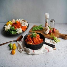 순우리춘천닭갈비1kgX4팩(4kg)+양념장 쌀떡 우동사리