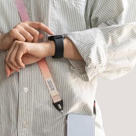 숄더  레터링 디자인 스트랩 목걸이줄 손목줄