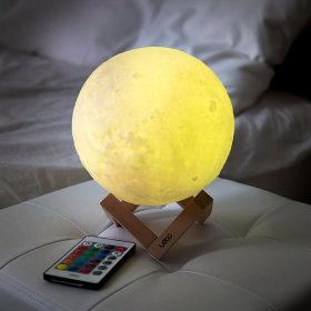 16컬러 3D 입체 달 무드등 LED 조명 스탠드 LML-M20