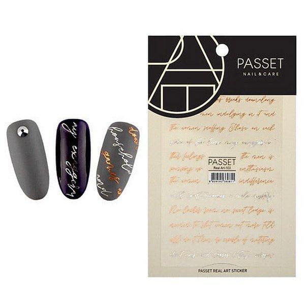 (네일나라) PASSET 파셋 리얼아트 스티커_ART103 (2112212) 상품이미지