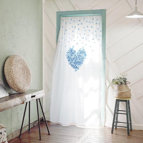 도어커튼 화장실 가리개 인테리어 130x200 블루하트 상품이미지