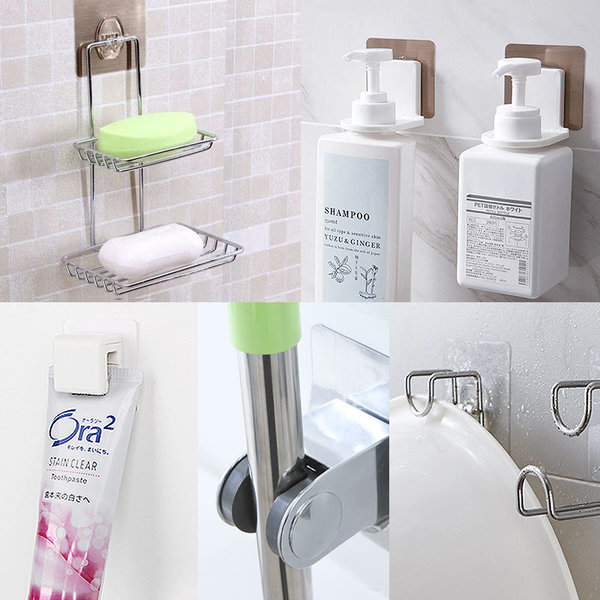 치약걸이 샴푸걸이 비누받침대 샤워기걸이 욕실 상품이미지
