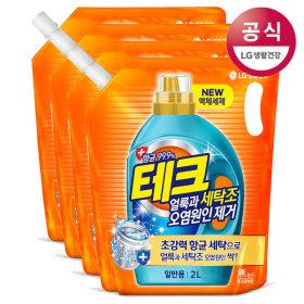 테크 세탁조 오염원인제거 액체세제 일반 2Lx4