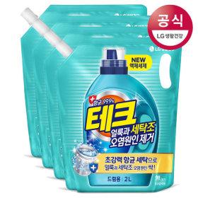 테크 세탁조 오염원인제거 액체세제 드럼 2Lx4