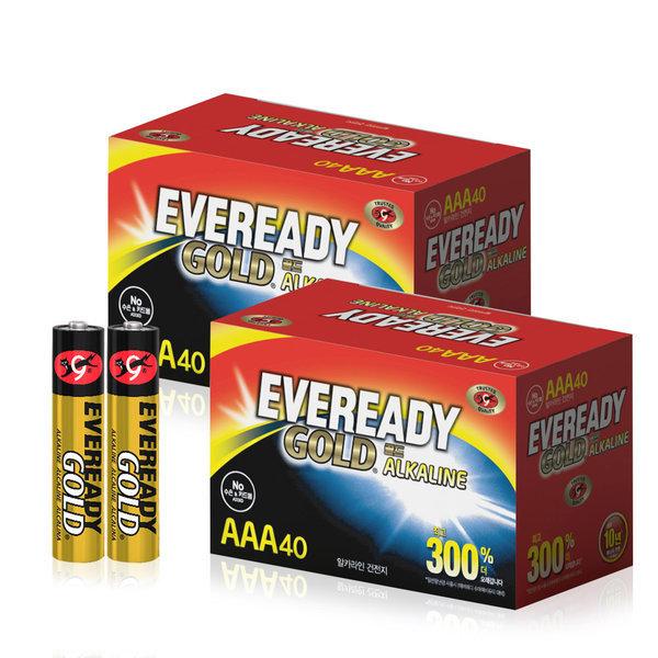 에너자이저 에버레디 알카라인 건전지 AAA 40입x2개 상품이미지