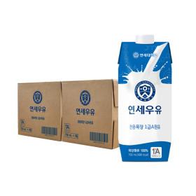 연세우유 멸균우유 730ml x 6팩