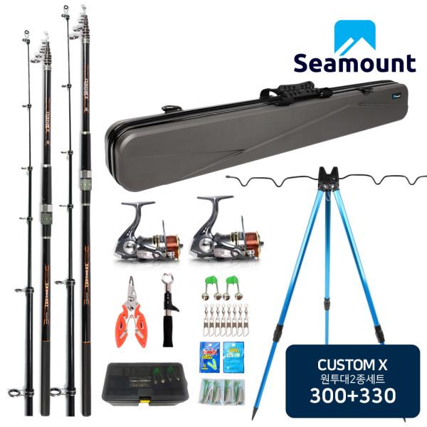 시마운트 커스텀X 원투 낚시세트 2+2/바다 낚시대 2종 상품이미지
