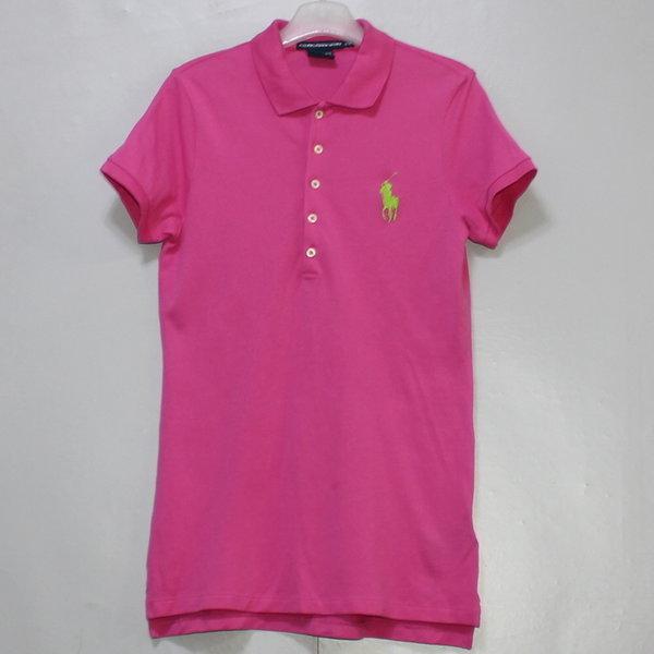 폴로 여성 반팔 카라넥 면 티셔츠/ 실측85/몽땅구제 상품이미지