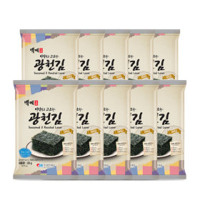 백제광천김 재래 전장김 20g 10봉 7월 한정특가