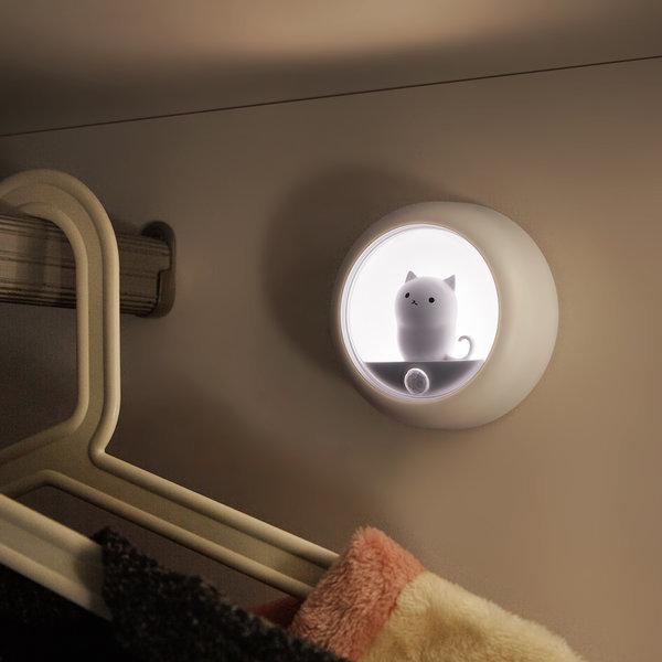 동작감지 고양이 충전식 무선 LED 센서등 조명 OL-CAT 상품이미지