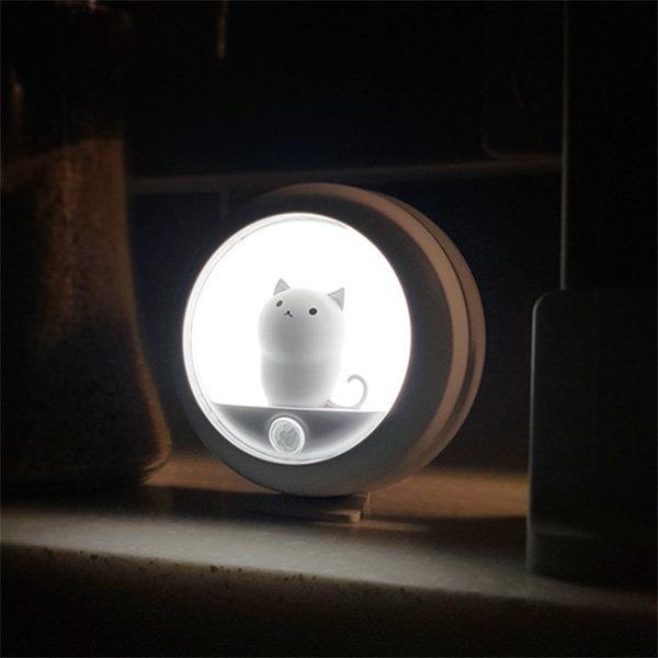 주방 충전식 무선 동작감지 LED 고양이 센서등 OL-CAT 상품이미지