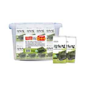 광천김 파래 도시락김5g X 32봉 + 리빙박스