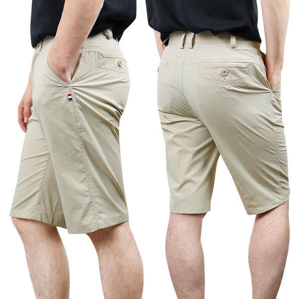 남성 여름 히든밴딩 기능성 냉감 스판 골프반바지 상품이미지