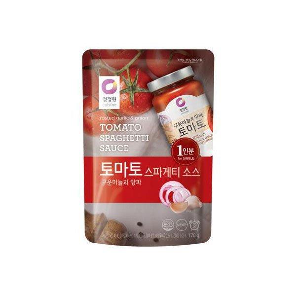 (우리가락)  새벽배송  우리가락 청정원 파우치 토마토 스파게티소스 170g 1인분 상품이미지