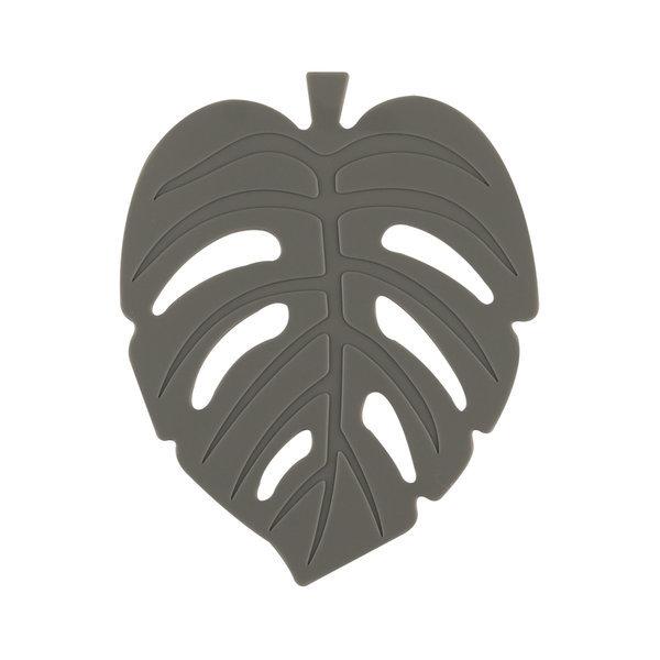 실리콘 NEW 나뭇잎 컵받침 11cm 차콜그레이 주방용품 상품이미지