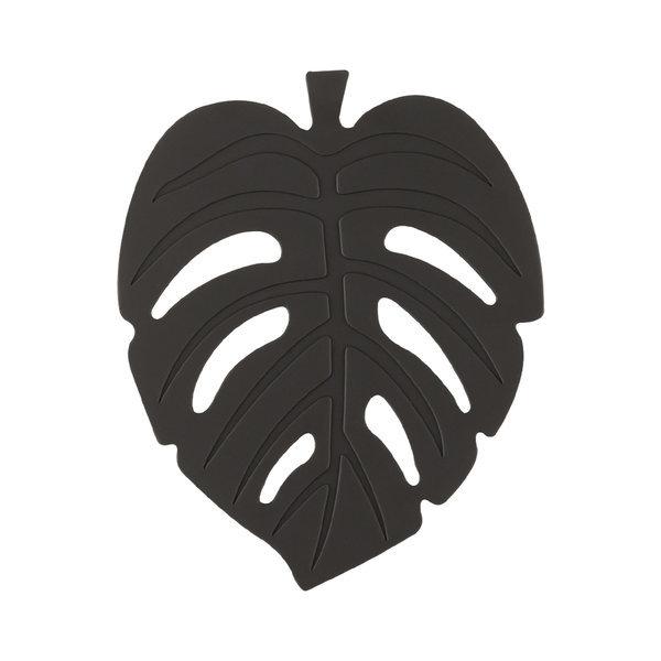 실리콘 NEW 나뭇잎 컵받침 11cm 라이트블랙 주방용품 상품이미지