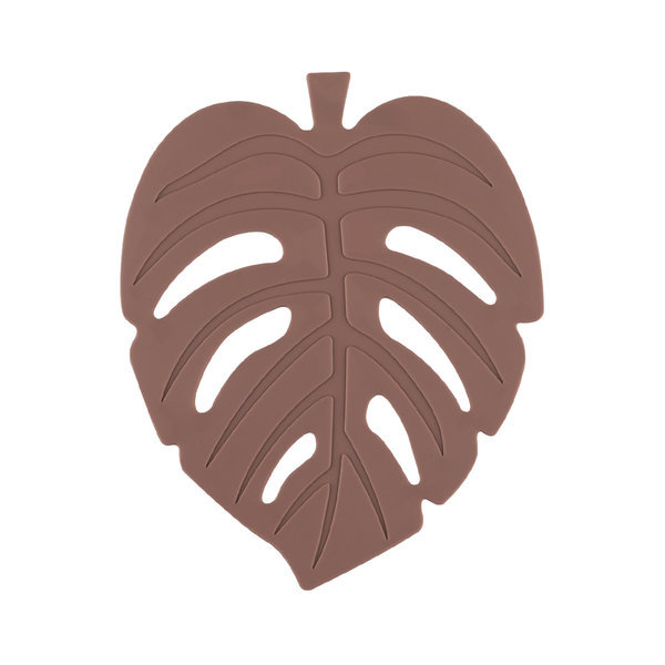 실리콘 NEW 나뭇잎 컵받침 11cm 로지브라운 주방용품 상품이미지