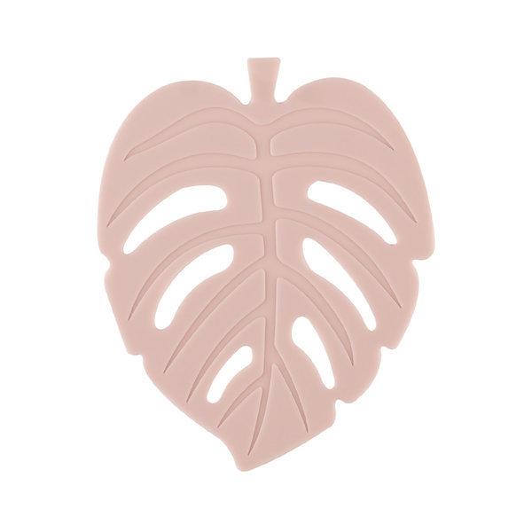 실리콘 NEW 나뭇잎 컵받침 11cm 핑크베이지 주방용품 상품이미지