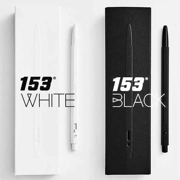 각인/모나미 153 블랙 화이트 메탈 볼펜 0.7mm 상품이미지