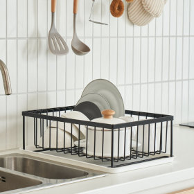 어썸 식기건조대(화이트/블랙) 심플/주방/식기건조