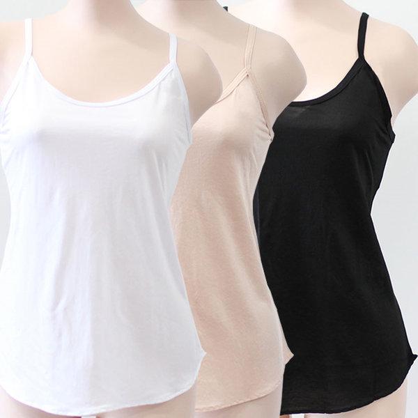 국산 (D03 인견 끈 나시) 여성 여름 런닝 여자 속옷 상품이미지