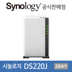 시놀로지 DS220J 아이언울프HDD 포함 16TB (8TBx2)