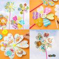 꽃 바람개비/종이바람개비/만들기재료/diy재료/야외
