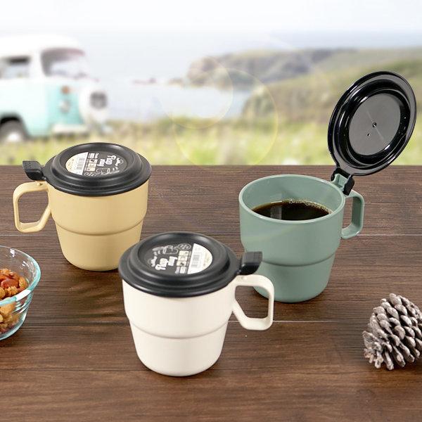 이노마타 플랩머그컵 360ml / 전자렌지 머그컵 스프컵 상품이미지