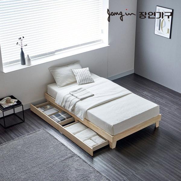 동서가구  프레쉬 편백나무 원목 평상서랍형 침대 SS 프레임 상품이미지