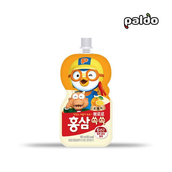 뽀로로 홍삼쏙쏙 오렌지 100ml 음료/어린이음료/홍삼 상품이미지