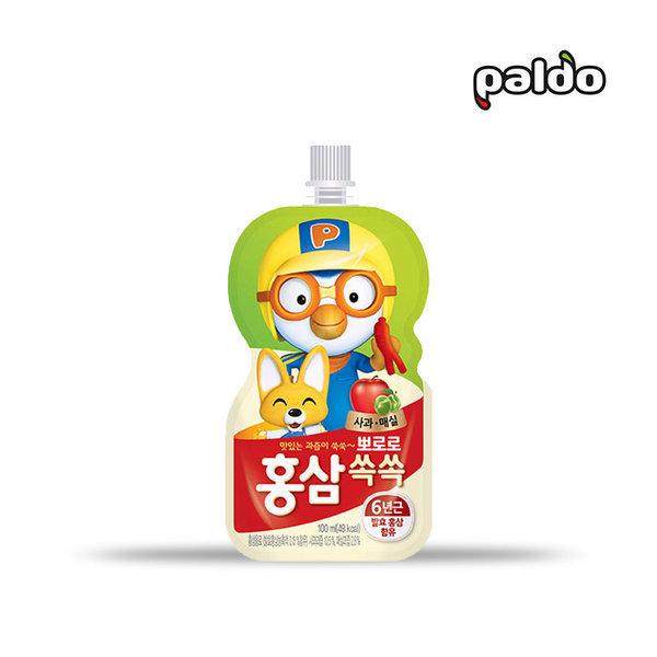 뽀로로 홍삼쏙쏙 사과매실 100ml 음료/어린이음료/홍삼 상품이미지