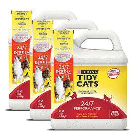 타이디캣 24/7 퍼포먼스 6.35kg 고양이모래 3개+ 증정