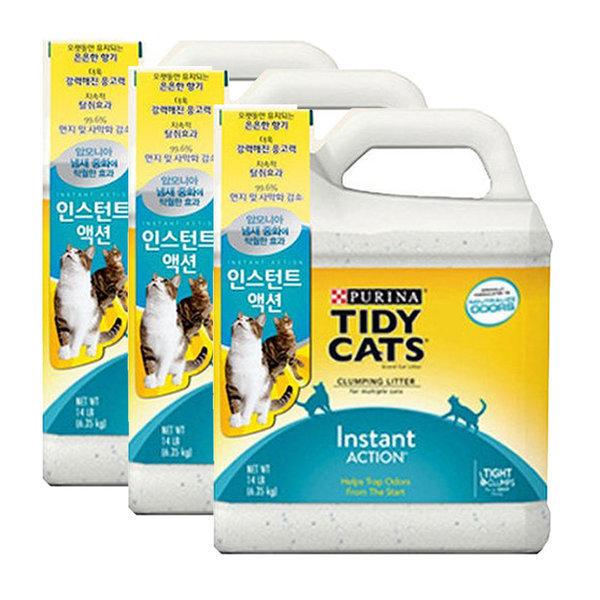 타이디캣 인스턴트 액션 6.35kg 고양이모래 3개 상품이미지