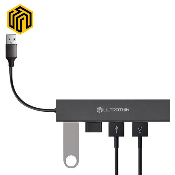 씽크웨이 CORE D4A 울트라씬 USB3.0 4포트허브 TYPE-A 상품이미지
