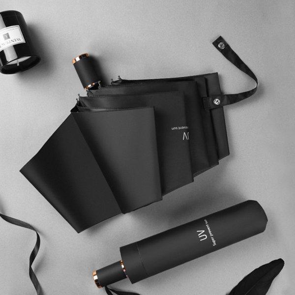 심플우산 양산 3단우산 자외선차단양산 블랙양우산 상품이미지