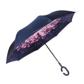 거꾸로우산 밤하늘무늬/골프 물받이 자동 비닐 장우산