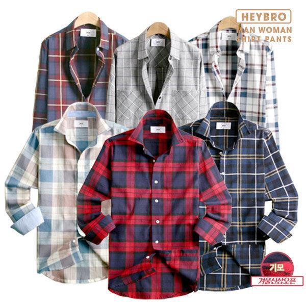 겨울신상 기모/체크/솔리드/모직/와이셔츠/셔츠/남방 상품이미지