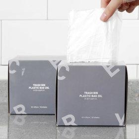 휴지통 비닐봉투 20L 50매x2
