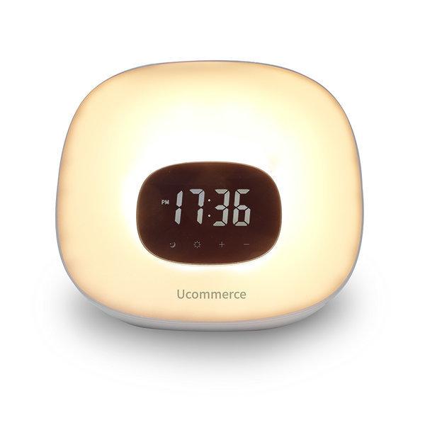 LED 무드등 FM 라디오 탁상 시계 램프 침대 취침 조명 상품이미지