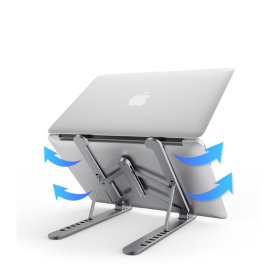 PL1 접이식 알루미늄 노트북거치대 스탠드 받침대 실버