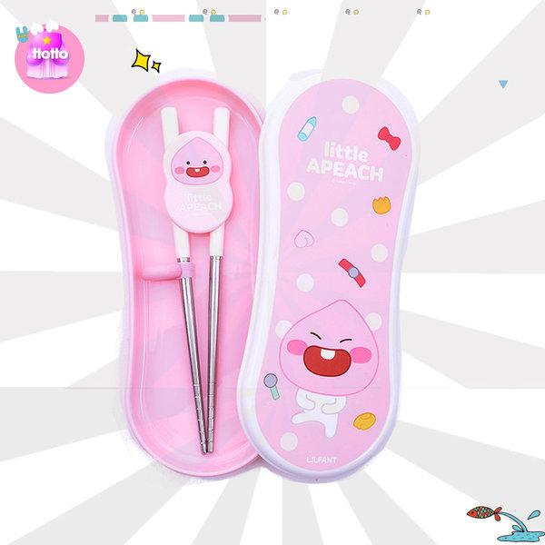 어피치 교정 젓가락 케이스 수저통 유아 유치원 선물 상품이미지