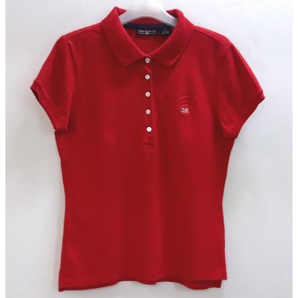 폴로진 여성 카라넥 면 반팔 티셔츠 90-95/중고 상품이미지