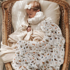TERRY PALMER Non-fluorescent Organic Bamboo Swaddle Blanket 1pc Towel
