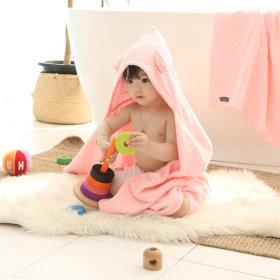 Non-fluorescent Towel Mason Teddy Hooded Towel 1pc Bathrobe