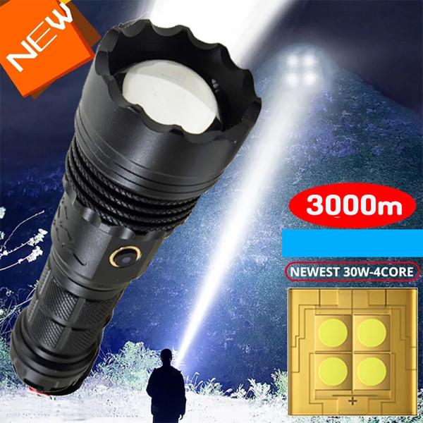 LED 충전식 손전등 후레쉬 서치라이트 3구 삼각대포함 상품이미지