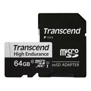 트랜센드 350V 마이크로SD카드 64GB/블랙박스용