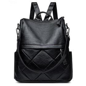 N88 가죽 여성 백팩 가벼운 여행용 직장인 미니 가방