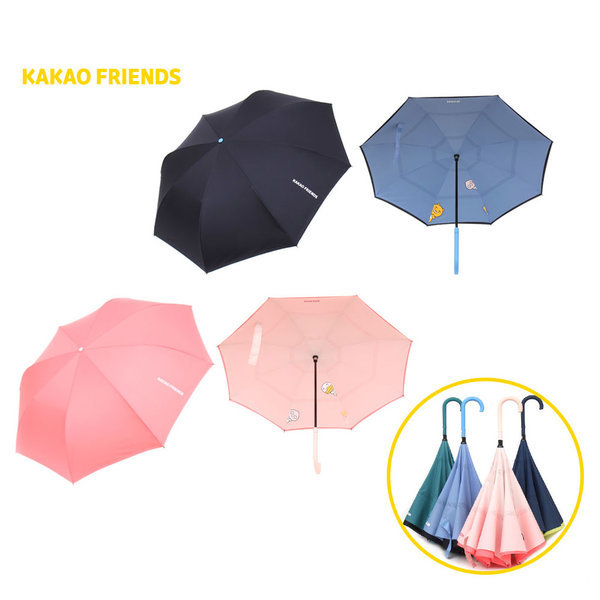 듀오 거꾸로 장우산 수동우산 상품이미지