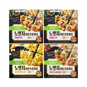노엣지꽉찬토핑피자 4판(불고기2+치즈1+콤비네이션1)